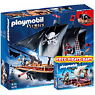 more details on Playmobil Pirate Combat Ship Playset - 6678.