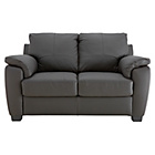 more details on HOME Antonio Compact 2 Seater Leather Sofa - Chocolate.