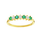 more details on 18ct Gold Plated Silver Emerald&Diamond Accent Eternity Ring