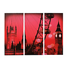 more details on Collection Red London Canvas - Set of 3.