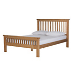 more details on Collection Aubrey Double Bed Frame - Oakstain.