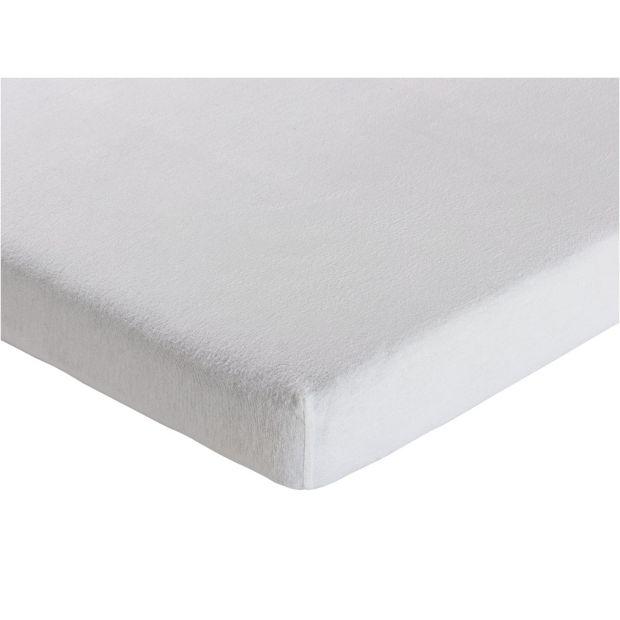 buy collection white brushed cotton fitted sheet toddler. Black Bedroom Furniture Sets. Home Design Ideas