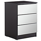 more details on HOME Sandon 3 Drawer Bedside Chest - Black and Mirrored.