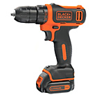 Black and Decker 10.8V Li Ion Drill Driver with 1 Battery