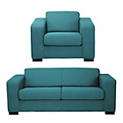 more details on Hygena Ava Large Fabric Sofa and Chair - Teal.