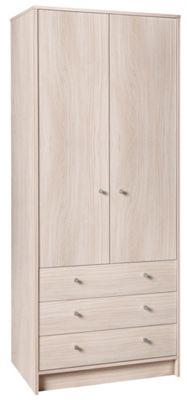 Buy Home New Malibu 2 Door 3 Drawer Wardrobe Beech
