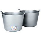 more details on HOME 2 x 40 Litre Flexi Tubs - Silver.