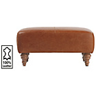 more details on Heart of House Livingston Leather Footstool - Tan.