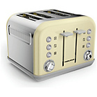 more details on Morphy Richards 242033 Accents Four Slice Toaster - Cream.