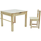 more details on Tikk Tokk Boss Wooden Nursery Table and Chairs Set - Natural