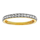 more details on 9ct Gold Cubic Zirconia Claw Set 3/4 Eternity Ring.