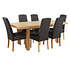 more details on Collection Langford Ext Table and 6 Chairs -Oak Veneer/Grey.