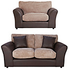 more details on HOME New Bailey Regular Sofa and Snuggler Chair - Natural.