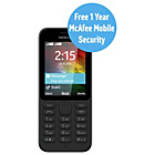 more details on Sim Free Nokia 215 Mobile Phone - Black.