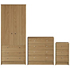 more details on HOME New Malibu 3 Piece Bedroom Package - Oak Effect.