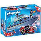 more details on Playmobil Police Boat Playset - 4429.
