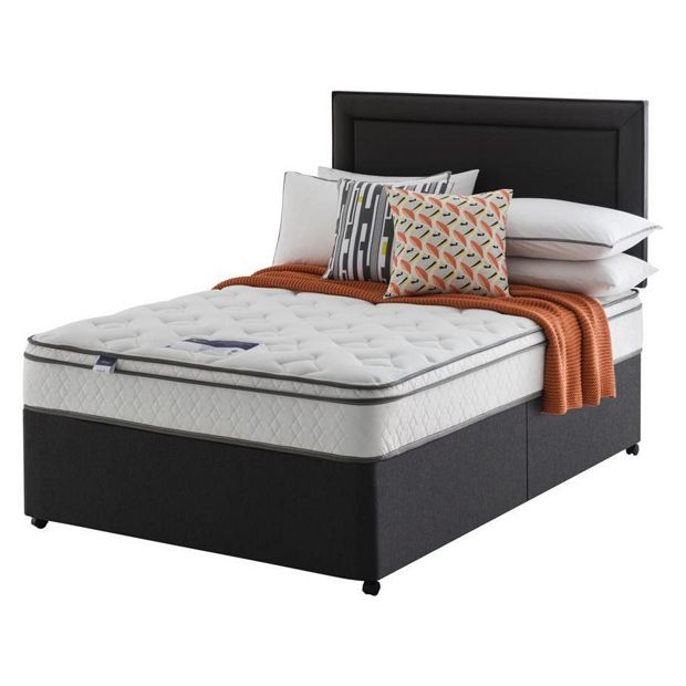 Buy silentnight horton m5 memory foam kingsize divan at for Silentnight divan