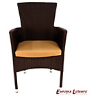 more details on Europa Leisure Brown Stockholm Chair with Cushion Pack of 2.