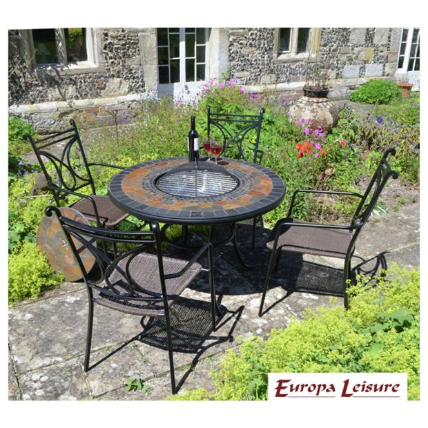 buy durango patio table with 4 treviso chairs at. Black Bedroom Furniture Sets. Home Design Ideas