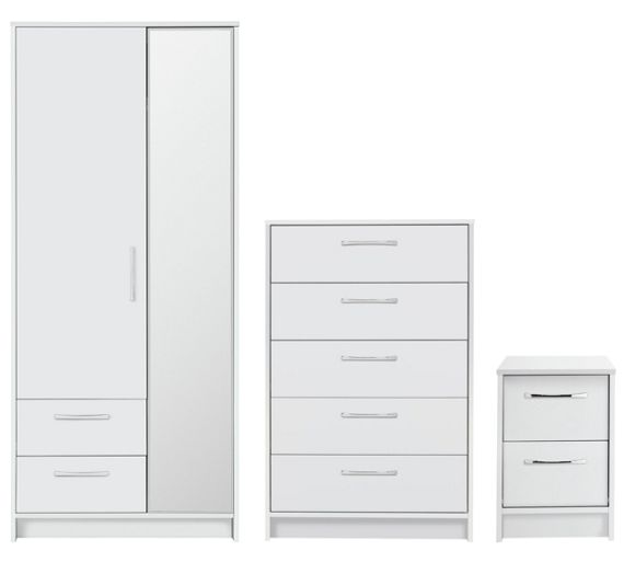 Buy collection tilbury 3 piece bedroom package white at for White bedroom furniture argos