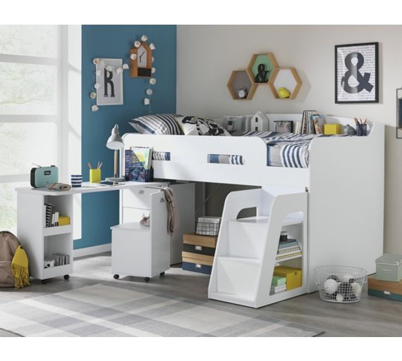 Buy Collection Ultimate Storage Midsleeper Bed White At