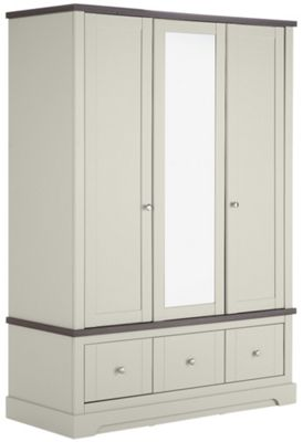 Buy Heart Of House 3 Door 3 Drawer Mirrored Wardrobe