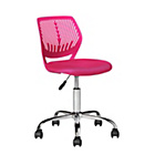 more details on Mesh Gas Lift Height Adjustable Office Chair - Pink.