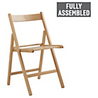 more details on HOME Wooden Folding Chair - Natural.