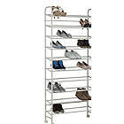 more details on HOME 10 Tier Rolling Shoe Rack - White.