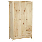 more details on HOME New Scandinavia 3 Door 3 Drawer Wardrobe - Pine.