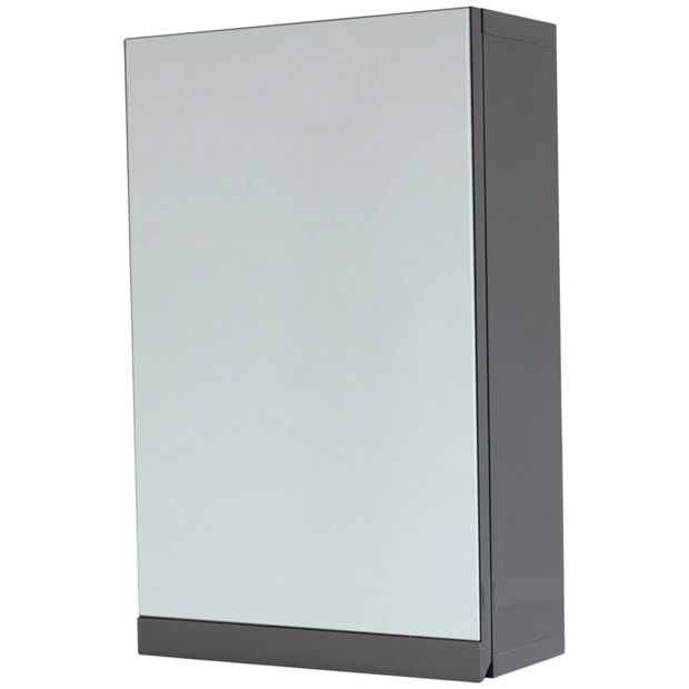 Buy hygena gloss wall cabinet grey at your for Argos kitchen cabinets