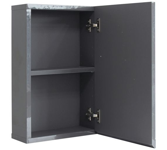 buy hygena gloss wall cabinet grey at your. Black Bedroom Furniture Sets. Home Design Ideas
