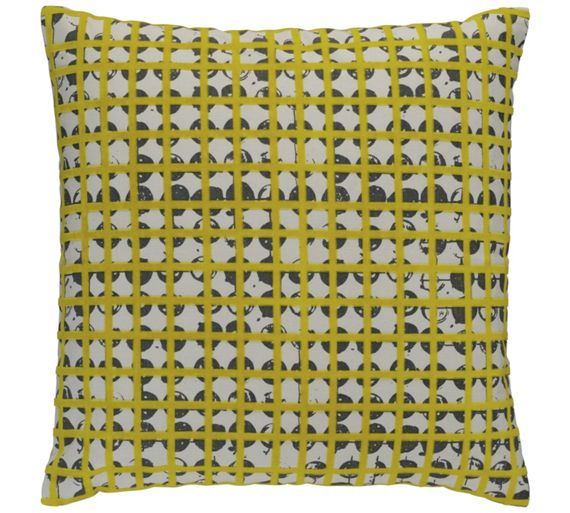 buy habitat griddy cushion yellow and grey at. Black Bedroom Furniture Sets. Home Design Ideas