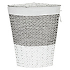 more details on HOME Corner Rope Laundry Bin - Grey and White.