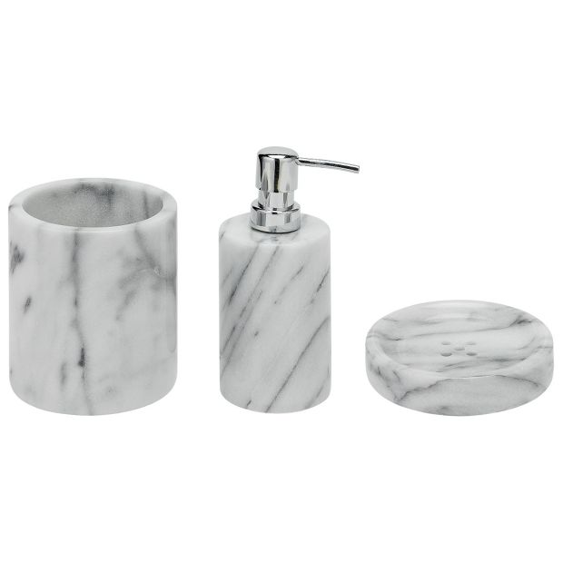 Buy heart of house bathroom accessory set marble at for Bathroom accessories argos