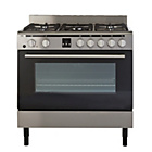 Bush BSC90DFSS Dual Fuel Range Cooker - Stainless Steel