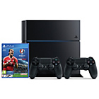 more details on PS4 500GB UEFA 2016 Console with 2 Controllers.
