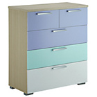 more details on Billie 3 + 2 Drawer Chest - Lilac.