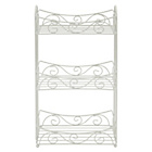 more details on Collection 3 Tier Wire Bathroom Shelf - Cream.