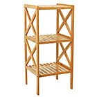more details on Collection Two Tier Bathroom Shelving Unit - Bamboo.