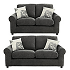 more details on HOME Tessa Large and Regular Fabric Sofa - Charcoal.