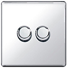 more details on Masterplug 2 Gang 2 Way Dimmer Switch - Polished Chrome.