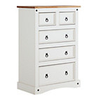 more details on Collection Puerto Rico 5 Drawer Chest - Two Tone Finish.