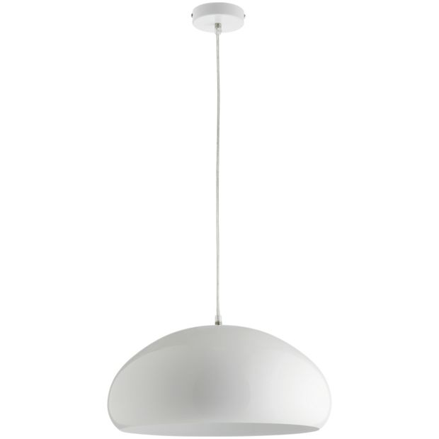 buy habitat rock metal pendant light white at. Black Bedroom Furniture Sets. Home Design Ideas