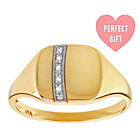 more details on 9ct Gold Diamond Accent Square Ring.
