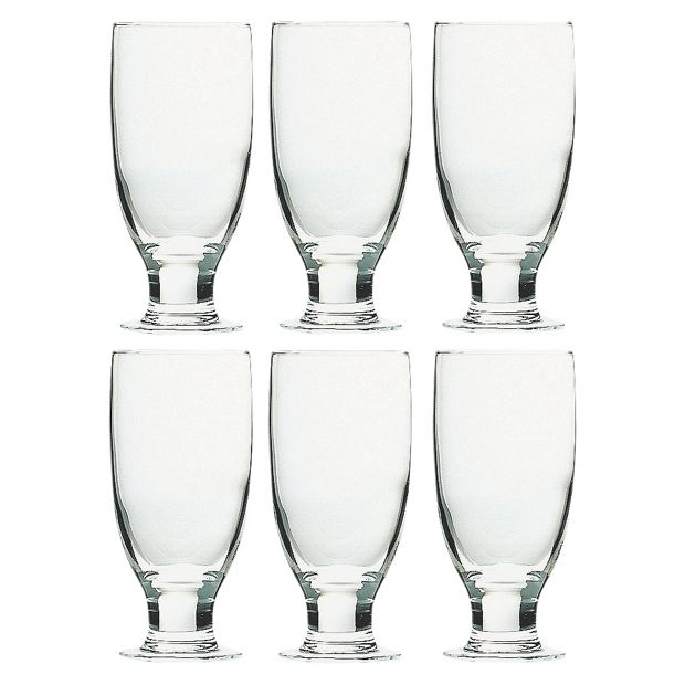 buy habitat napoli pack of 6 large glasses at. Black Bedroom Furniture Sets. Home Design Ideas