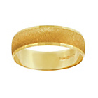 more details on 9ct Gold Diamond Cut 5mm Centre D-Shape Wedding Ring.