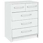 more details on Collection Tilbury 3 + 2 Drawer Chest - White.