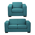 more details on Hygena Ava Compact Fabric Sofa and Chair - Teal.