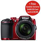 more details on Nikon B500 16MP 40x Zoom Bridge Camera - Red.